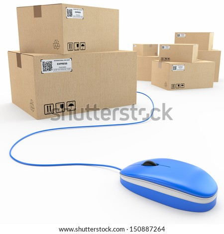 cargo, delivery online concept - stock photo
