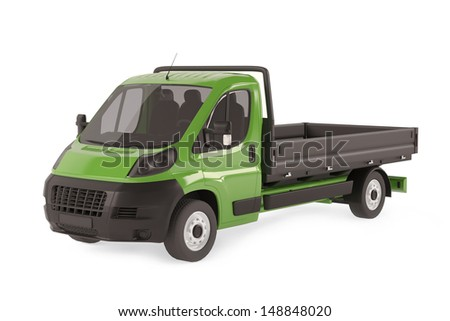 Cargo delivery vehicle. Tipping lorry - stock photo
