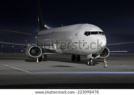 Cargo plane at an airport - stock photo