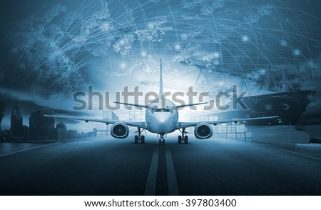 cargo plane logistic business - stock photo
