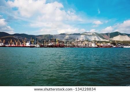 Cargo port at Novorossiysk. Russia
