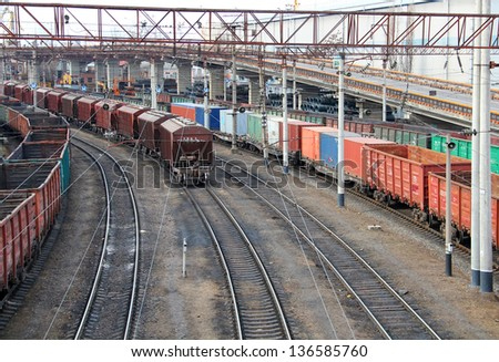 Cargo port, Odessa, Ukraine - stock photo
