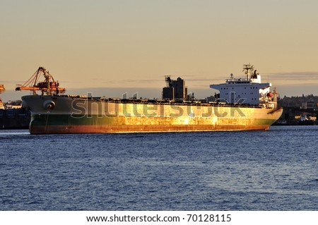 Cargo Ship at Port Vancouver