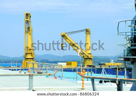 Cargo ship in the sea - stock photo