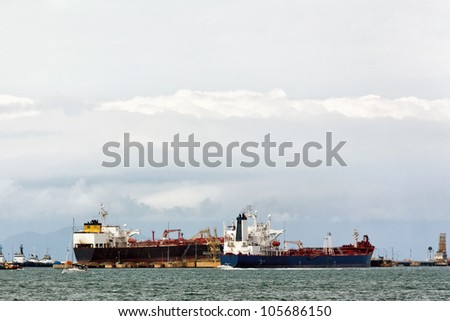 Cargo ships a great image for your job.