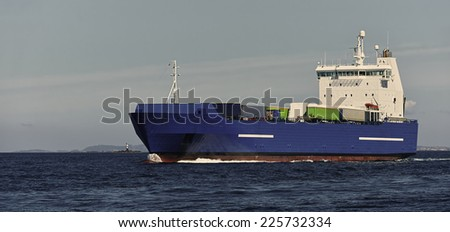 Cargo ships. Collection of yachts and ships - stock photo