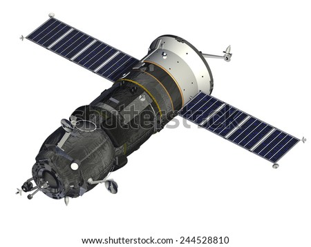 Cargo Spacecraft. 3D Model. - stock photo