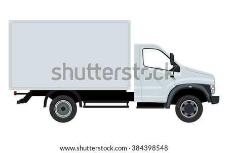 Cargo transportation by car on a white background