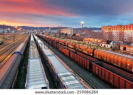 Cargo Transportation - Train - stock photo