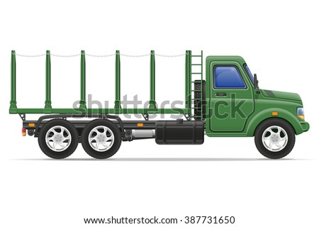 cargo truck for transportation of goods illustration isolated on white background