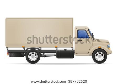 cargo truck for transportation of goods illustration isolated on white background - stock photo