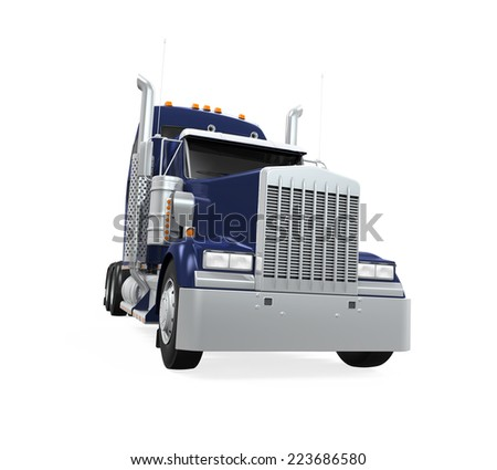 Cargo Truck Isolated