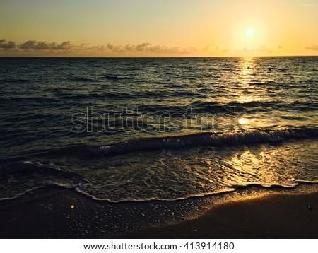 Caribbean beach in Varadero, Cuba - stock photo
