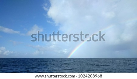 Caribbean Ocean from Boat