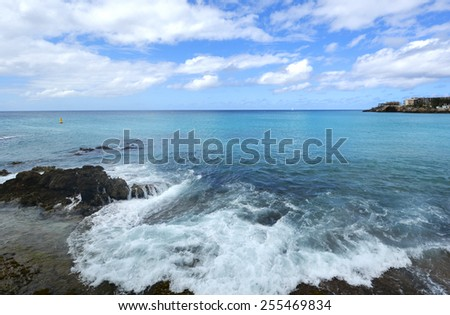Caribbean sea - stock photo