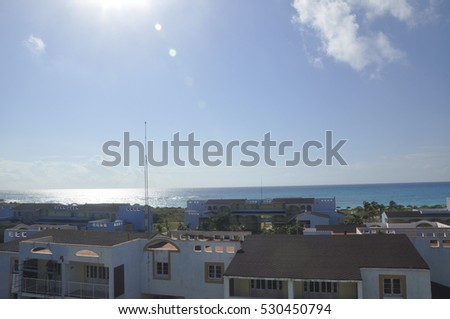 Caribbean sea view