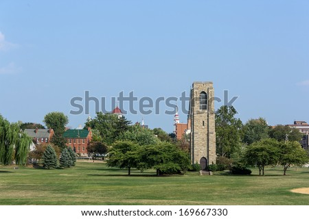 Carillon (Bell Tower) in Frederick, Maryland - stock photo