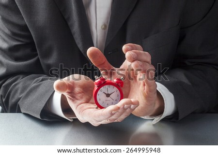 caring for deadline and budget at work - stock photo