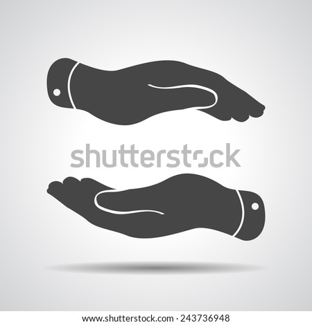 caring hands icon - vector illustration - stock photo