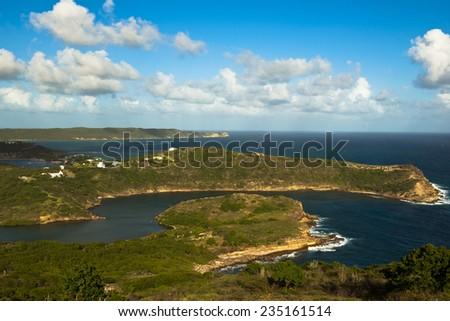 Carlisle bay in Antigua - stock photo