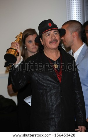 Carlos Santana at the 2013 NCLR ALMA Awards Press Room, Pasadena Civic Auditorium, Pasadena, CA 09-27-13