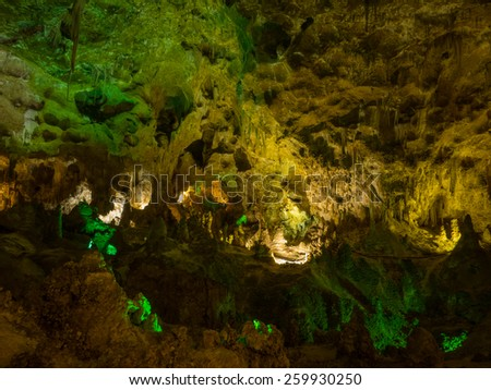 Carlsbad Caverns National Park is a United States National Park in the Guadalupe Mountains in southeastern New Mexico. - stock photo