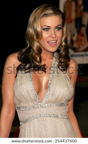 """Carmen Electra attends the World Premiere of """"Cheaper By The Dozen 2"""" held at the Mann Village Theatres in Westwood, California, United States on December 13, 2005.  - stock photo"""