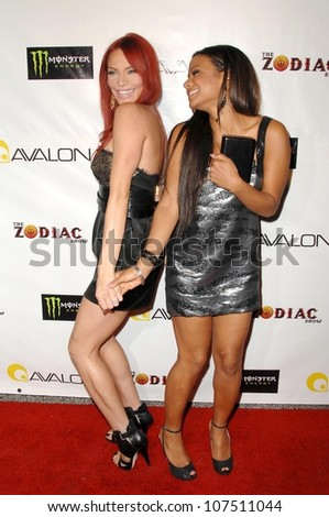 Carmit Bachar and Christina Milian  at the Opening Night of 'The Zodiac Show'. Avalon, Hollywood, CA. 09-09-08