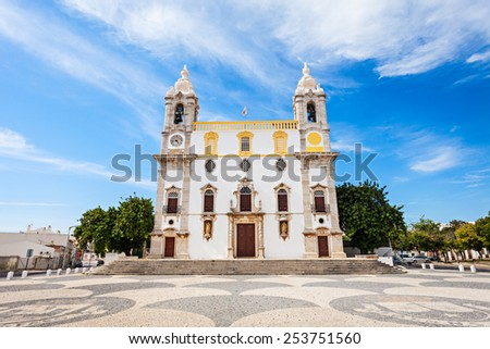 Carmo Church (Chapel of Bones) in Faro, Portugal - stock photo