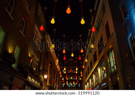 Carnaby Street by Night - stock photo