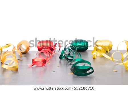 Party frame ribbons confetti stock photo 22337224 for Decoration carnaval