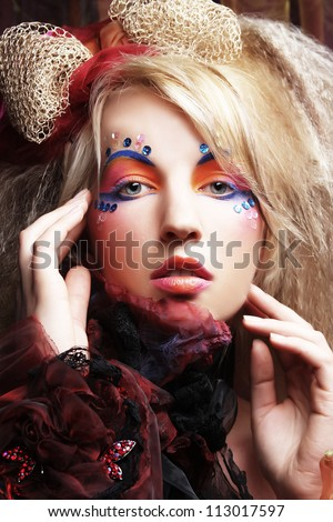 carnaval woman with creative make up