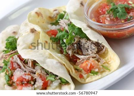 Carnita  Tacos - stock photo