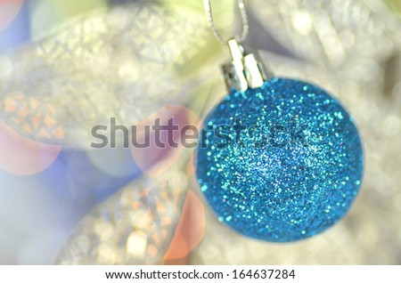 carnival decoration, colored ball on bokeh background - stock photo