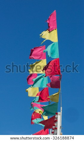 Carnival Flags against blue sky