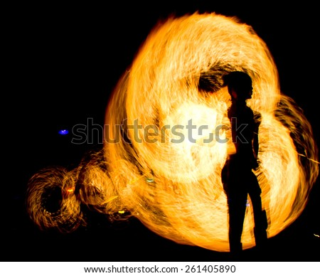 Carnival Light Fiery Motion  - stock photo