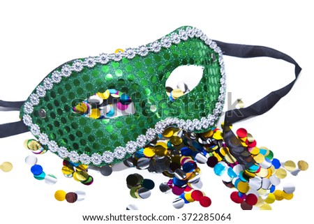 carnival mask background - stock photo