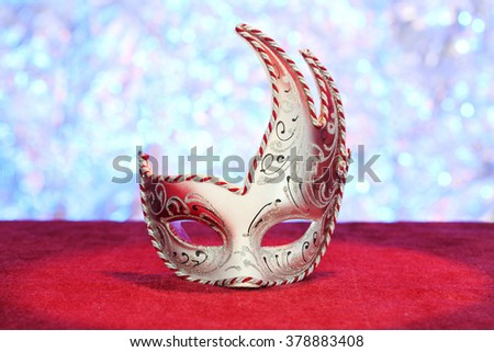 Carnival mask close up, shallow dof - stock photo