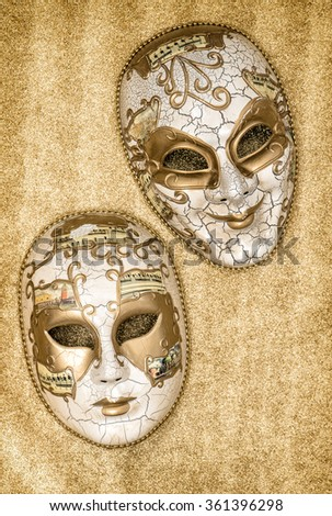 Carnival mask harlequin. Mardi gras. Holidays background. Venetian festival card concept. No name mass production goods