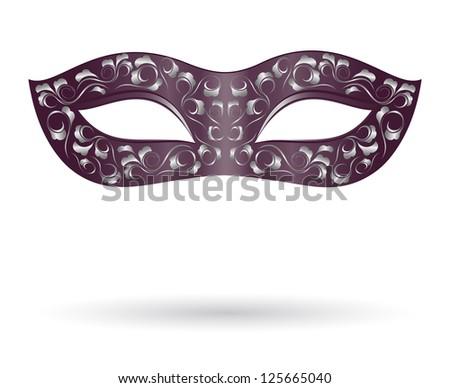 Carnival mask in black - stock photo