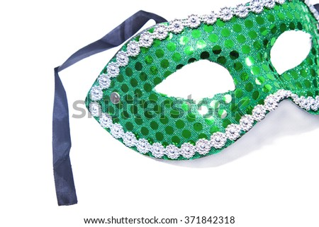 carnival mask isolated - stock photo
