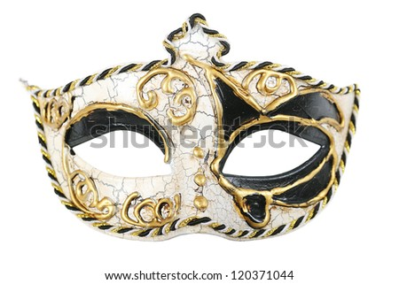 Carnival mask isolated on pure white background - stock photo