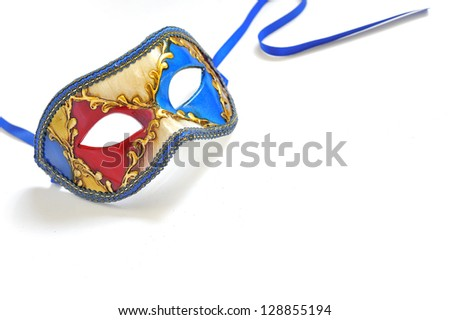 Carnival mask isolated on white background - stock photo