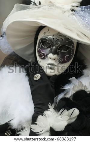 Carnival mask of Venice - stock photo
