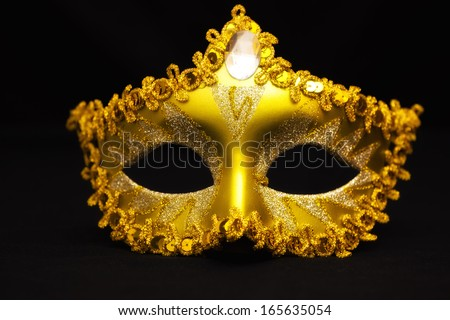 Carnival mask on a black background, Carnival mask, photography