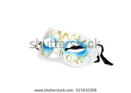 Carnival mask on a white background, isolated (clipping path).