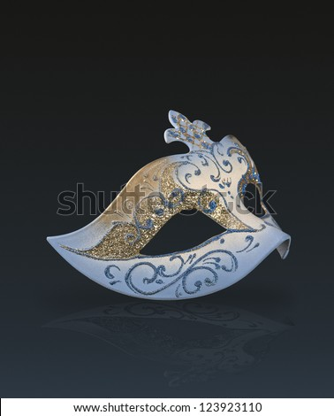 Carnival Mask on gradient background - stock photo