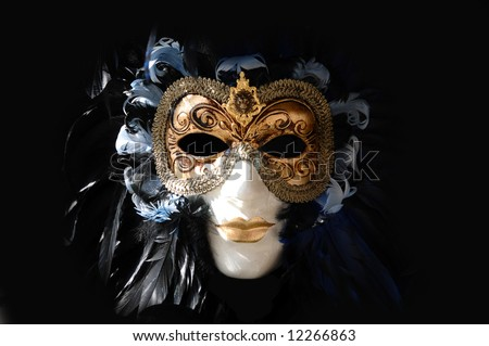 Carnival mask portrait