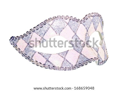 Carnival mask with festive clothing beautiful pattern - stock photo