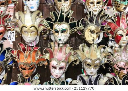 carnival masks venice Italy - stock photo